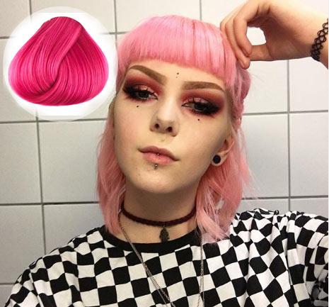Carnation Pink Hair Color