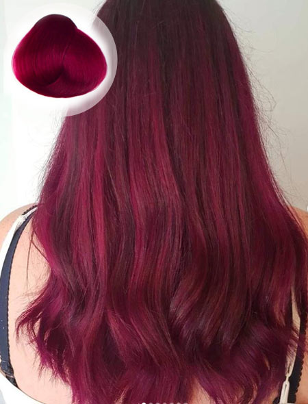 Rose Red Hair Color